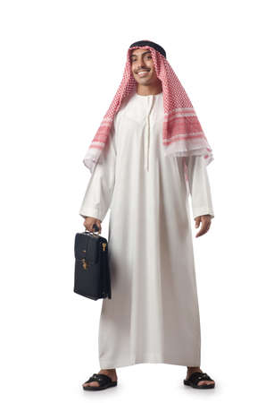 Diversity concept with arab on white Stock Photo - 16942472