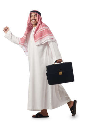 Diversity concept with arab on white Stock Photo - 16942464