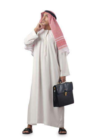 Diversity concept with arab on white Stock Photo - 16942470