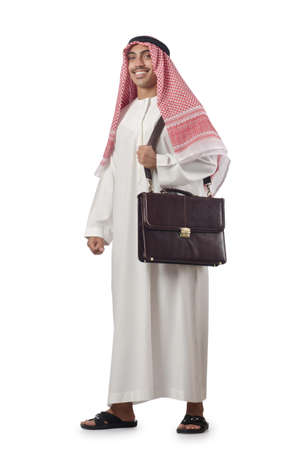 Diversity concept with arab on white Stock Photo - 16942469