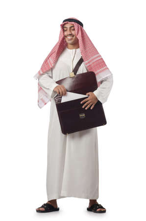 Diversity concept with arab on white Stock Photo - 16942473
