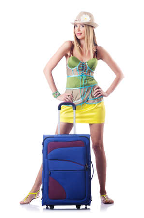 Attractive woman ready for summer vacation Stock Photo - 16942487