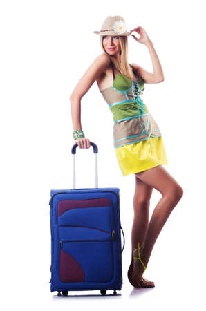 Attractive woman ready for summer vacation Stock Photo - 16942493