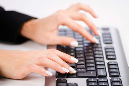 Hands working on the keyboard Stock Photo - 16897779