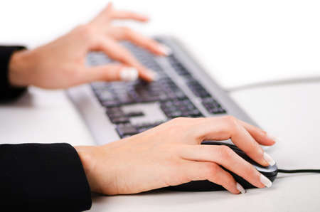Hands working on the keyboard Stock Photo - 16897711