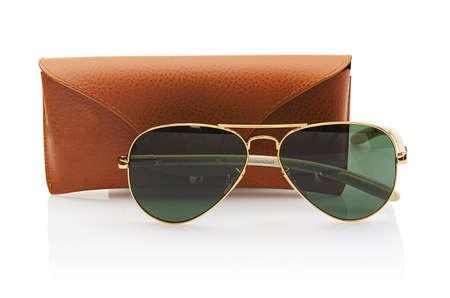 Elegant sunglasses isolated on the white Stock Photo - 16897785