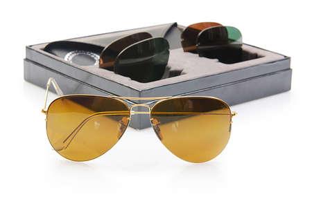 Elegant sunglasses isolated on the white Stock Photo - 16897769
