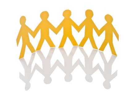 Teamwork concept with paper cut people Stock Photo - 16894604