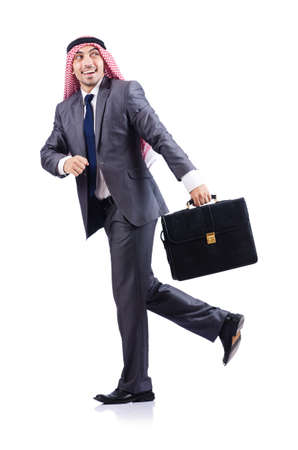 Arab businessman isolated on white Stock Photo - 16891340