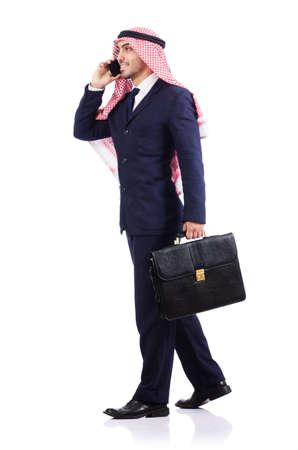 Arab businessman isolated on white Stock Photo - 16891342