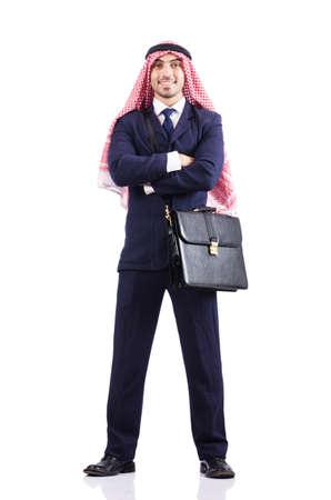 Arab businessman isolated on white Stock Photo - 16891341