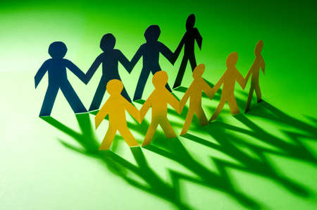 Paper people in teamworking concept Stock Photo - 16897905