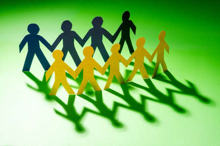 Paper people in teamworking concept Stock Photo - 16897856