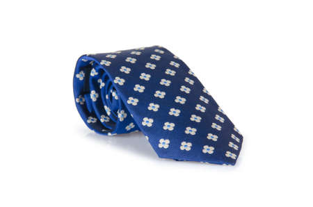 Elegant silk male tie ( necktie ) on white Stock Photo - 16891345