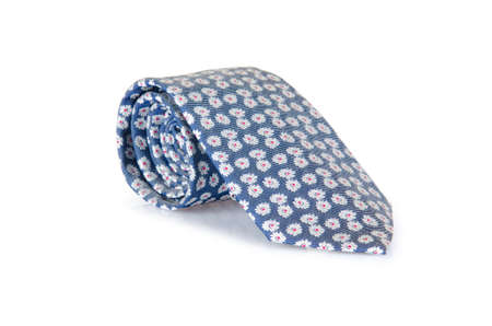 Elegant silk male tie ( necktie ) on white Stock Photo - 16897590