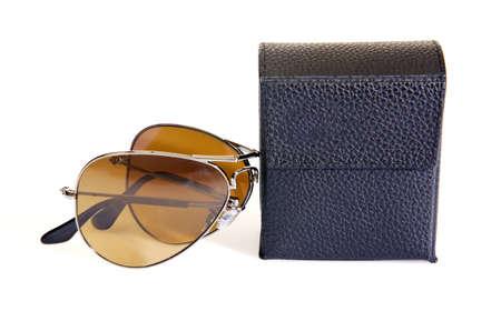 Elegant sunglasses isolated on the white Stock Photo - 17368698
