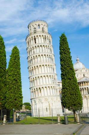 Famous leaning tower of Pisa during summer day Stock Photo - 17368766