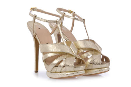 Nice woman shoes isolated on white Stock Photo - 17368533