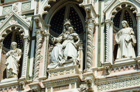 Elements  architecture of cathedral in Florence Stock Photo - 17368483