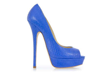 Blue shoes isolated on the white Stock Photo - 17367102