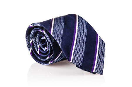 Elegant silk male tie ( necktie ) on white Stock Photo - 17367829