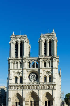 notre dame cathedral on bright summer day Stock Photo - 17368091