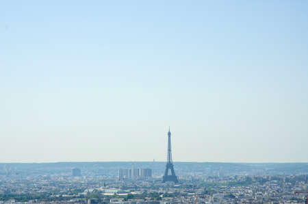 Skyline of Paris on bright summer day Stock Photo - 17368015