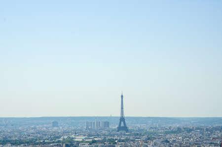 Skyline of Paris on bright summer day Stock Photo - 17368015