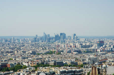 Skyline of Paris on bright summer day Stock Photo - 17368221