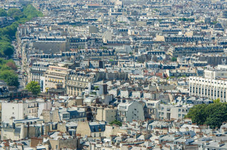 Skyline of Paris on bright summer day Stock Photo - 17356633