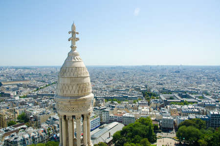 Skyline of Paris on bright summer day Stock Photo - 17356618