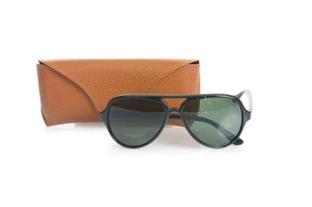 Elegant sunglasses isolated on the white Stock Photo - 17367092