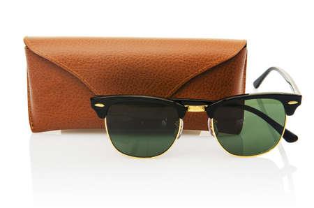 Elegant sunglasses isolated on the white Stock Photo - 17373856