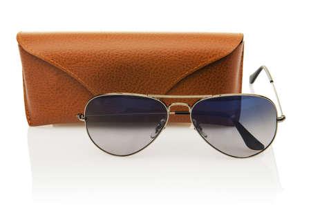 Elegant sunglasses isolated on the white Stock Photo - 17373839