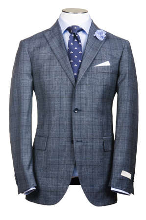 tailored: Formal suit in fashion concept