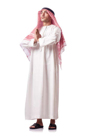 Arab man isolated on the white Stock Photo - 17412856