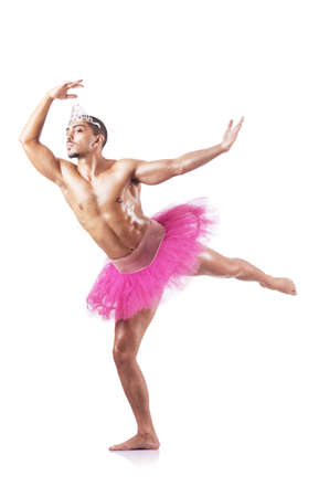 Muscular ballet performer in funny concept Stock Photo - 17412849