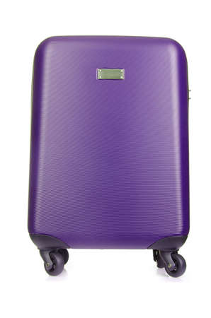 Travel luggage isolated on the white background photo