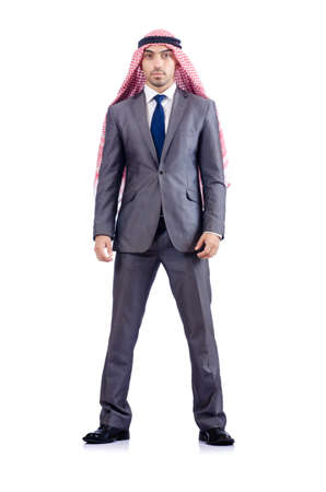 Arab businessman isolated on the white Stock Photo - 17412884