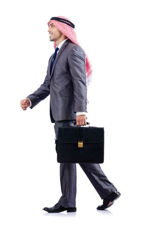 Arab businessman isolated on the white Stock Photo - 17412868