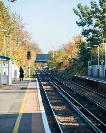 Rail tracks in bright summer day Stock Photo - 18017468