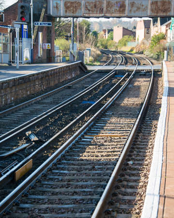 Rail tracks in bright summer day Stock Photo - 18014660
