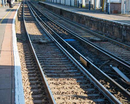 Rail tracks in bright summer day Stock Photo - 18014897