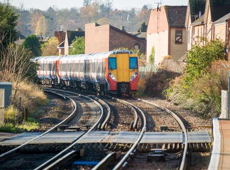 Rail tracks in bright summer day Stock Photo - 18017467