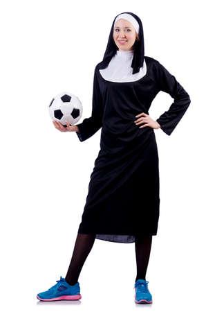 Young nun in religious concept Stock Photo - 18037493