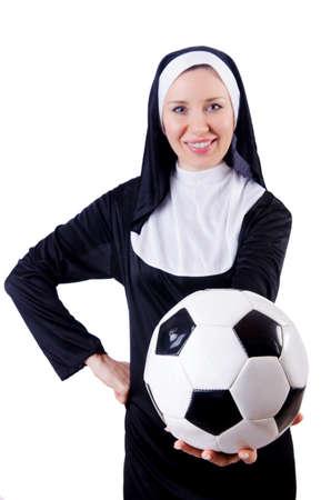 Young nun in religious concept Stock Photo - 18037320