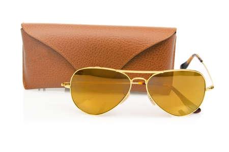Elegant sunglasses isolated on the white Stock Photo - 18012172