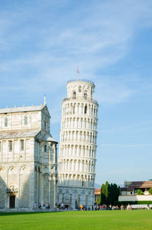 Famous leaning tower of Pisa during summer day Stock Photo - 18017357