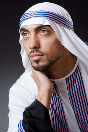Arab businessman isolated on the white Stock Photo - 18037123