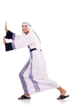 Arab man isolated on the white Stock Photo - 18037213